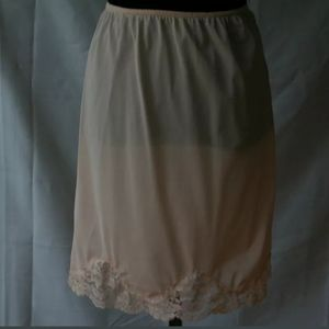 """Half Slip Pink French Maid Lace 19.5"""""""